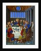 Representation of 'The Last Supper' on enamelled copper by Franz Kellerhoven