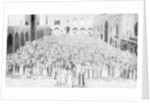 A congregation faces the holy Kaaba in Mecca's mosque, Saudi Arabia by Anonymous