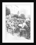Officers in the Hussars, Chaussee de Louvain, Brussels, First World War by Anonymous