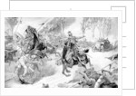 Armoured Belgian troops under attack by Uhlans, First World War by Anonymous