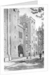 Old gateway to Lincoln's Inn, London by RA Wilson