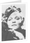 Marlene Dietrich (1901-1992), German-born American actress, singer and entertainer by Anonymous
