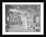 The hall of Abbotsford Hall, near Melrose, Scotland by WA Mansell