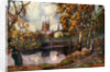 Hereford Cathedral, from the river walk, Herefordshire by Louis Burleigh Bruhl