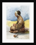 A Tibetan fortune teller by Anonymous