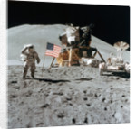 Astronaut James Irwin (1930-1991) gives a salute on the Moon by NASA