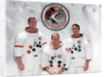The crew of the Apollo 15 Mission at the Manned Spacecraft Centre, Houston, Texas by NASA