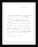 Letter by Wolfgang Amadeus Mozart by Frederick George Netherclift