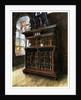 A cabinet of oak and walnut by Edwin Foley