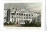 The centre of Cumberland Terrace, Regents Park, London by W Wallis