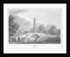 Chinese pagoda and bridge, St James's Park, Westminster, London by Rawle
