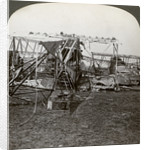 Wreck of a German bomber that tried to break through the aerial defence, World War I by Realistic Travels Publishers