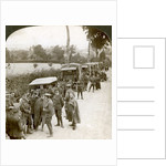 Ammunition convoy parked in a Flanders lane awaiting orders, World War I by Realistic Travels Publishers