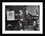 Jean Richepin, French poet, dramatist and novelist, and Leon Bonnat, French artist by Anonymous