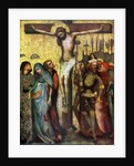 'Crucifixion', before 1400 by Workshop of the Master of the Trebon Altarpiece