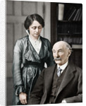 Thomas Hardy, English poet, novelist and dramatist with his second wife, Florence by Anonymous
