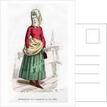 Bourgeoise in costume of the time of Charles VI of France by Petit