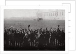 Count  Zeppelin saluted by members of the naval airship fleet, Germany by Anonymous