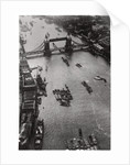 Aerial view of Tower Bridge, London, from a Zeppelin by Anonymous