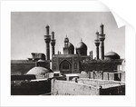 The golden domes and minarets of the al-Kadhimiya Mosque, Baghdad, Iraq by A Kerim