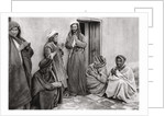 A mullah teaching a prayer to a young man, Iraq by A Kerim