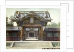 Temple gate, Shiba, Tokyo, Japan by Anonymous