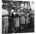 Tourists during a halt by the wayside, St Vincent by Anonymous