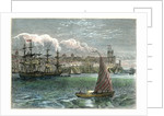 View of the city of San Domingo from the harbour, Dominican Republic by Anonymous