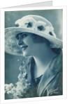 Woman wearing a hat by Bleuet