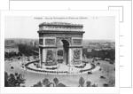 Arc de Triomphe and Place de l'Etoile, Paris, France by Anonymous