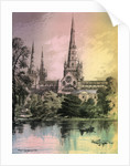 Lichfield Cathedral, Staffordshire by Alfred Concanen