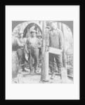 Filling a shell with nitro-glycerine, oil field in Pennsylvania, USA by Keystone View Company