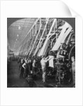 General view of a large printing room in a cotton mill, Lawrence, Massachusetts, USA by Keystone View Company