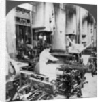 Weaving linen fabric, Montreal, Canada by Keystone View Company