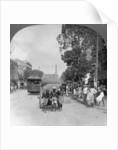 Dalhousie Street, busiest in the city, Rangoon, Burma by Stereo Travel Co