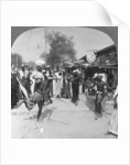Young men performing a sword dance, Burma by Stereo Travel Co