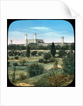 Railway station, from the Queen's Garden, Delhi, India by Anonymous