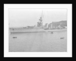 HMS Cardiff, British C-class light cruiser, Malta by Anonymous
