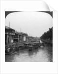 The crowded canal, from the English Bridge by HC White