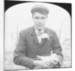 E Hack holding a pigeon by Anonymous
