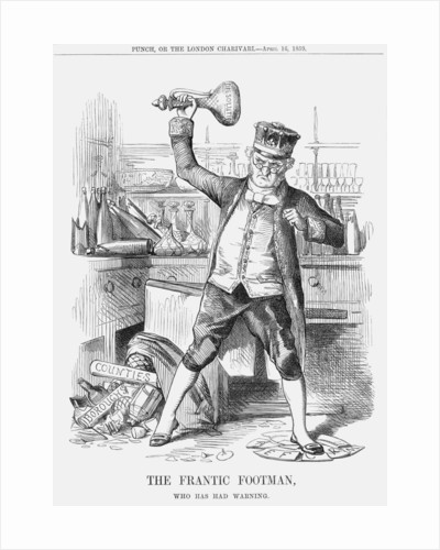 The Frantic Footman, who has had Warning by Anonymous