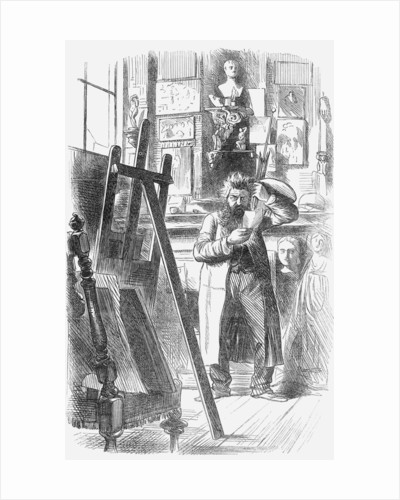 A bohemian artist in his studio by Anonymous