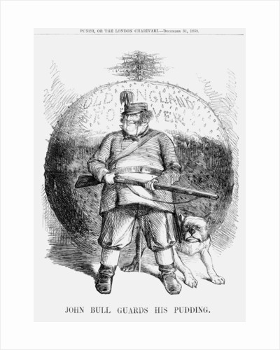 John Bull guards his Pudding by Anonymous
