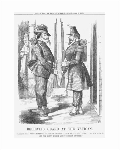 Relieving Guard at The Vatican by John Tenniel