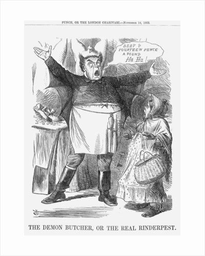 The Demon Butcher, or the Real Rinderpest by John Tenniel