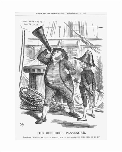 The Officious Passenger by John Tenniel