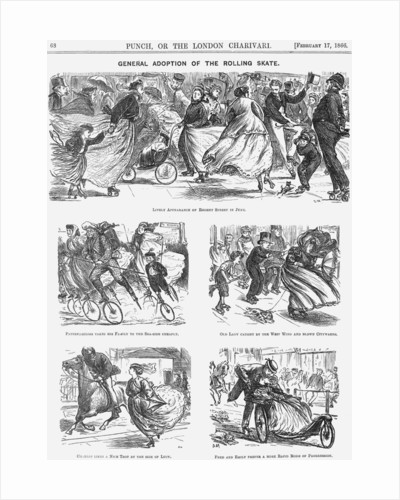 General Adoption of the Rolling Skate by George du Maurier