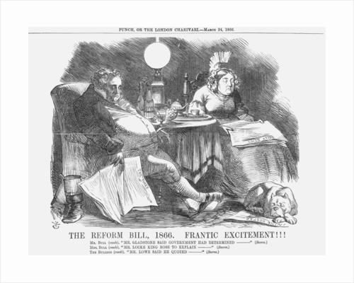 The Reform Bill, 1866. Frantic Excitement!!! by John Tenniel
