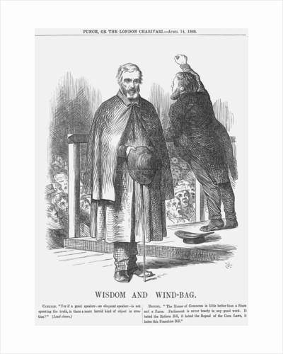 Wisdom and Wind-Bag by John Tenniel