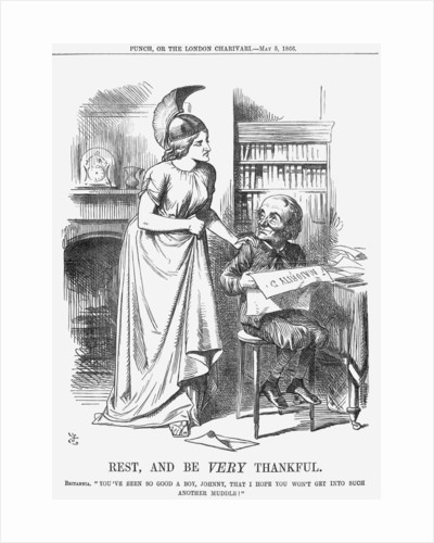 Rest, and be Very Thankful by John Tenniel